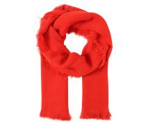 Schal mit Fransen rot