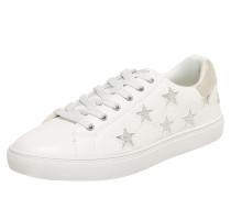 Sneaker mit Glitzersternen weiß