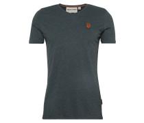 T-Shirt in Melange-Optik basaltgrau