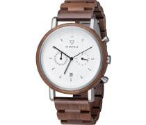Uhr 'Johann Walnut Watwjoh9092' braun