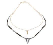 Halskette 'Ilta' gold / schwarz