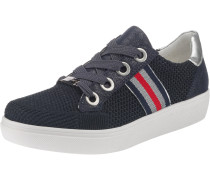 Sneakers Low 'New York' navy / rot / silber