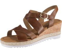 Sandaletten braun / hellbraun / weiß