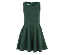 Ausgestelltes Kleid mit Lochmuster grün