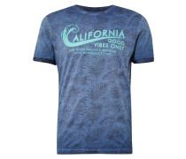 T-Shirt royalblau / mischfarben