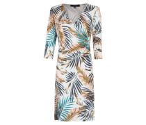 Modernes Kleid mit Palmenprint