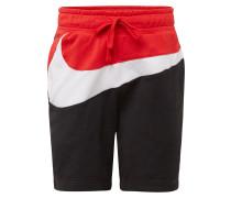 Shorts rot / schwarz / weiß