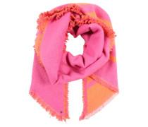 Weicher Schal orange / pink