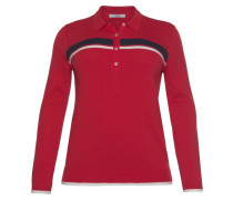 Polo Team Strickpullover rot