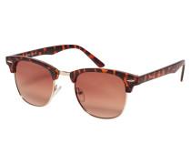 Sonnenbrille kastanienbraun / rosegold