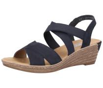 Sandalen kobaltblau / hellbraun