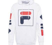 Sweatshirt 'total' weiß