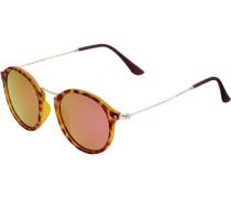 Sonnenbrille braun / goldgelb