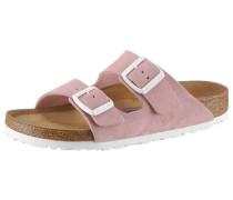 Pantolette 'Arizona Sfb' rosé / weiß