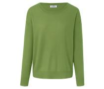 Rundhals-Pullover grün