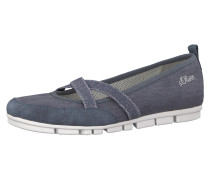 Riemchenballerinas im Denim-Look
