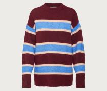 Pullover 'Iva' creme / blau / bordeaux