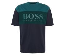 T-Shirt 'T-Bold' nachtblau / petrol