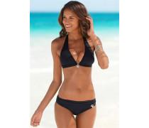 Triangel-Bikini schwarz / silber