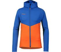 Fleecehoodie blau / orange