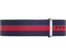 Textilband navy / hellrot