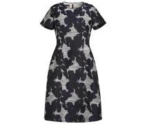 Kleid mit Blumenmuster navy / wollweiß