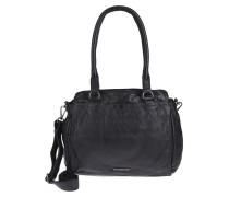 Lederhandtasche 'rise' schwarz