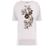 T-Shirt gold / schwarz / weiß