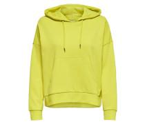 Einfarbiger Sweatshirt limone