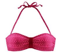 Bandeau-Top pink / dunkelpink