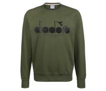Sweatshirt dunkelgrün / schwarz