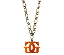 Halskette 'ufn70721' gold / orangerot