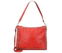 'Lichene' Handtasche Leder 29 cm rot