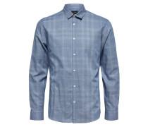 Langarmhemd hellblau / naturweiß