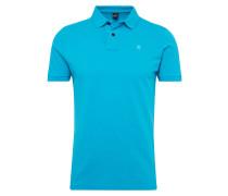 Poloshirt mit Marken-Badge blau