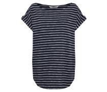 Shirt 'Bell Jaquard' navy / weiß