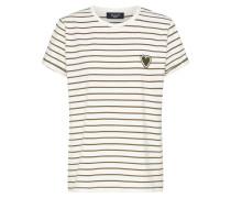 Shirt 'herm' creme / khaki