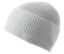 Mütze in Struktur-Mix 'Fidoo' hellgrau