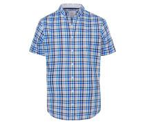 Hemd 'Dan' beige / blau / schwarz / weiß