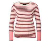 Pullover rosé / rot / naturweiß