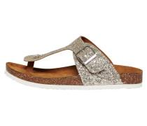 Geteilte Zehen-Sandalen gold