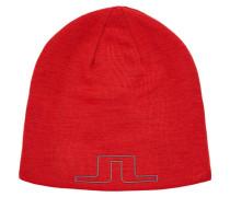 Mütze grau / rot