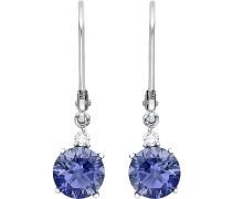 Ohrhänger 'Iolith 86775298' blau / weiß