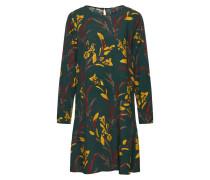 Blusenkleid goldgelb / grün