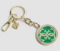 Schlüsselanhänger 'Charm' gold / grün