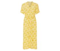 Kleid limone / weiß