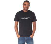 Script T-Shirt nachtblau