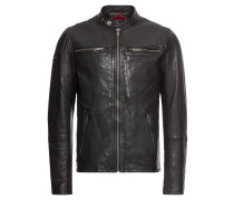 Lederjacke 'real Hero Leather Biker'