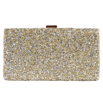 Clutch mit Glitter gold