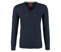 Pullover mit V-Ausschnitt navy
